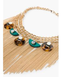 Mango - Metallic Metal Chain Necklace - Lyst