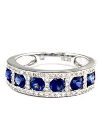Effy | Blue Royale Bleu 14k White Gold Sapphire And Diamond Ring | Lyst
