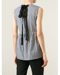 N°21 - Black Swallow Embellished Check Shirt - Lyst