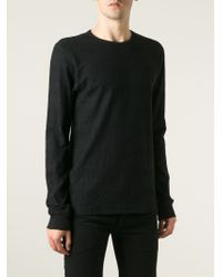 Soulland | Black 'leonard' Jacquard T-shirt for Men | Lyst