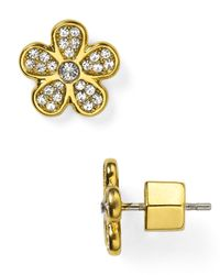 Marc By Marc Jacobs | Metallic Pavé Daisy Stud Earrings | Lyst