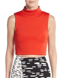 C/meo Collective | Orange Metal & Dust Crop Top | Lyst