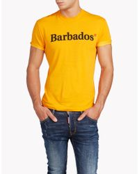 DSquared² | Orange Hetero Guy Fit T-shirt for Men | Lyst