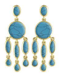 Karen Kane | Blue Baja Chandelier Earrings | Lyst