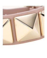 Valentino | Metallic Rockstud Leather Bracelet | Lyst