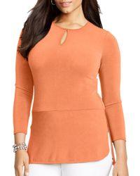 Ralph Lauren - Orange Lauren Front Keyhole Tunic - Lyst