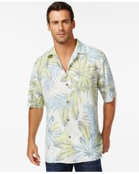 Tommy Bahama | Blue Keep Palm And Carry On Silk Short-sleeve Shirt for Men | Lyst