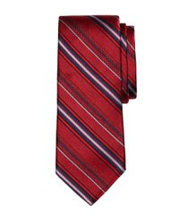 Brooks Brothers | Red Alternating Stripe Tie for Men | Lyst