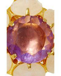 Bounkit | Purple Moonstone And Amethyst Earrings | Lyst