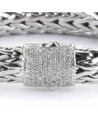 John Hardy | Metallic Pre-owned Rope Bracelet with Pave Diamond Clasp | Lyst