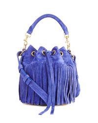 Saint Laurent   Blue Emmanuelle Small Suede Cross-Body Bag   Lyst