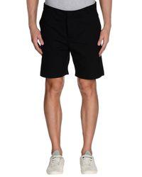 Fendi - Black Bermuda Shorts for Men - Lyst