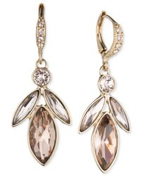 Givenchy | Pink Gold-Tone Vintage Rose Medium Drop Earrings | Lyst