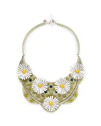 Philippe Audibert | Multicolor 'margueritte' Enamel Daisy Bib Necklace | Lyst
