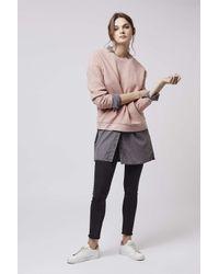 TOPSHOP - Pink Petite Brushed Sweatshirt - Lyst