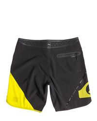 "Quiksilver - Yellow 19"" Ag47 New Wave Bonded Boardshorts for Men - Lyst"