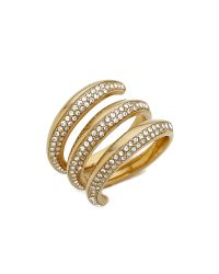 Michael Kors - Metallic Statement Ring - Gold/Clear - Lyst
