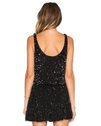 MLV - Black Sid Sequin Crop Top - Lyst