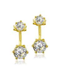 Lord & Taylor - Metallic Sparkling 18K Gold Stick Drop Earrings - Lyst