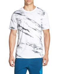 Nike | Gray Sb 'written In Stone' Print Dri-fit Crewneck T-shirt for Men | Lyst