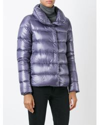 Herno - Gray Quilted Funnel-Neck Jacket - Lyst
