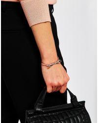 Ted Baker - Pink Sirene Sleek Bow Cuff Bracelet - Lyst