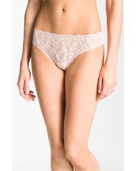 DKNY | Natural 'signature Lace' Thong | Lyst