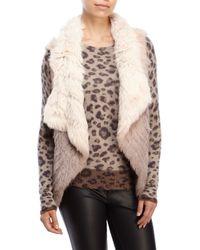 Love Token - Pink Jaden Ombrã© Real Fur Vest - Lyst