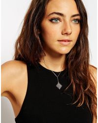 ASOS | Metallic Filigree Necklace | Lyst