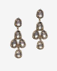 Erickson Beamon - Gray Duchess Of Fabulous Earrings - Lyst