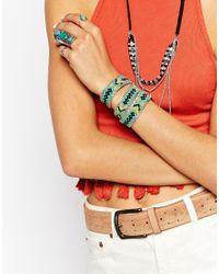 Pieces | Multicolor Natalia Plaited Wrap Bracelet | Lyst