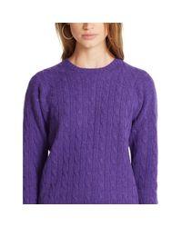 Polo Ralph Lauren | Purple Classic-fit Cabled Cashmere | Lyst