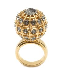 Alexander McQueen | Metallic Jewelled Sphere Ring | Lyst