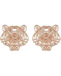 KENZO | Pink Mini Tiger Stud Earrings | Lyst