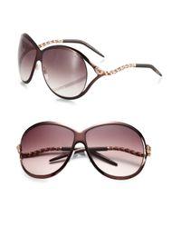 Roberto Cavalli | Brown Cebalrai Serpent Swarovski Crystral Sunglasses | Lyst