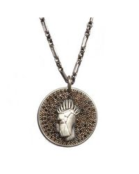 Kelly Wearstler | Metallic Head Trip Medallion Pendant | Lyst