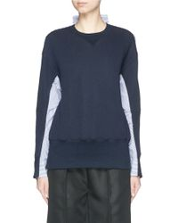 Sacai Luck - Blue Pinstripe Shirt Back Sweater - Lyst