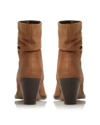 Steve Madden - Brown Welched Ruched Calf Boot - Lyst