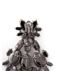 Ermanno Scervino - Black Gem Clip-On Drop Earrings - Lyst