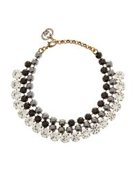 Gucci | Metallic Swarovski Crystal and Faux Pearl Necklace | Lyst
