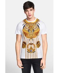 Versace Jeans - White Trompe L Oeil Print T-shirt for Men - Lyst