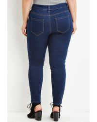 Forever 21 | Blue Plus Size Classic Skinny Jeans | Lyst