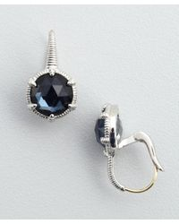 Judith Ripka - Blue Quartz and Sterling Silver Drop Earrings - Lyst