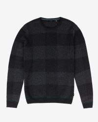 Ted Baker | Gray Checked Sweater for Men | Lyst