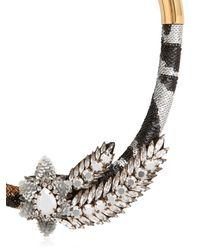 Shourouk | Metallic Aigrette Tiger Necklace | Lyst