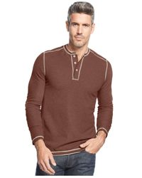 Tommy Bahama | Brown Grand Thermal Henley for Men | Lyst