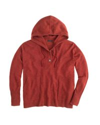 J.Crew - Brown Collection Cashmere Patchpocket Hoodie - Lyst