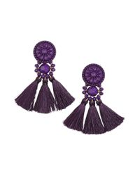 H&M | Purple Earrings With Tassels | Lyst