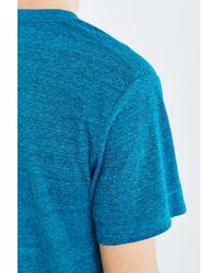 BDG - Blue Standard-fit Tri-blend V-neck Tee for Men - Lyst