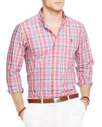 Ralph Lauren | Red Polo Plaid Poplin Button Down Shirt - Regular Fit for Men | Lyst